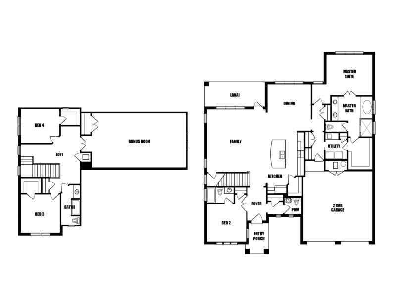 New Homes in Freeport, Florida. The Blue Oak II Floorplan in Meadows at Hammock Bay.