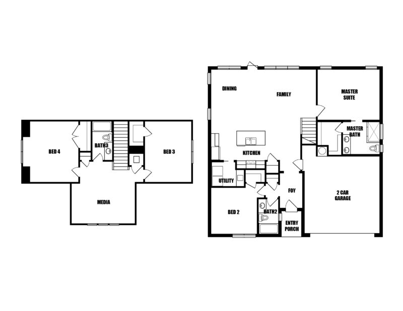 New Homes in Freeport, Florida. The Cottage One Floorplan,