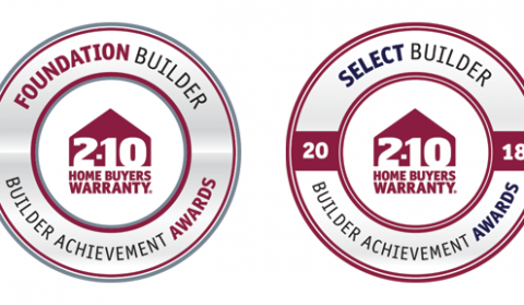 2-10 Home Buyers Warranty. Foundation Builder - Builder Achievement Awards. 2018 Select Builder - Builder Achievement Awards