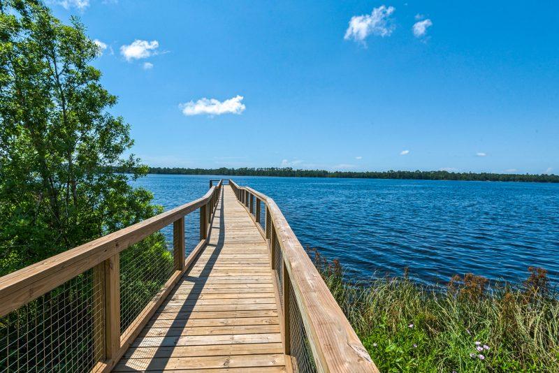 Water's Edge wooden pier