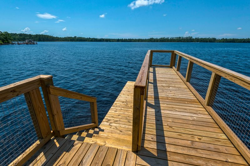 wooden pier at Water's Edge