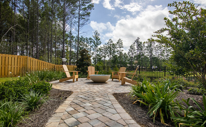 Backyard Firepit and Seating Area