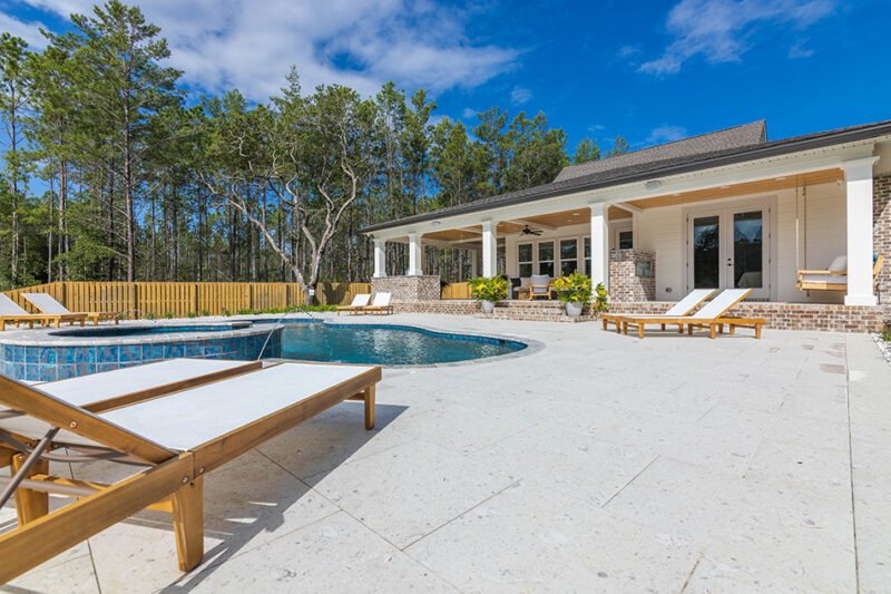 Back porch and pool