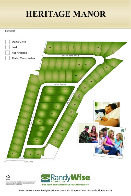 Heritage Manor Colored Neighborhood Site Plan