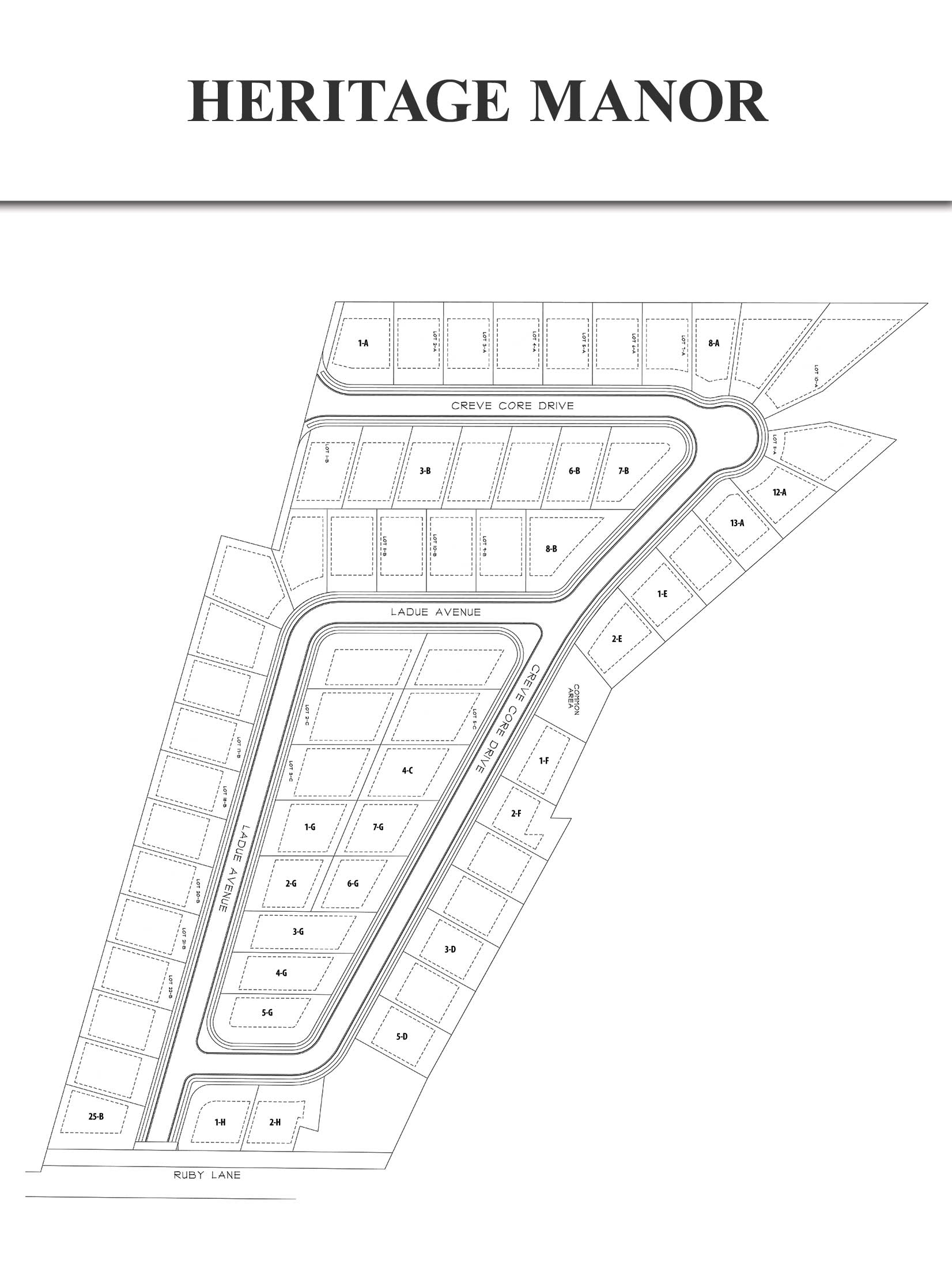 Heritage Manor Neighborhood Site Plan