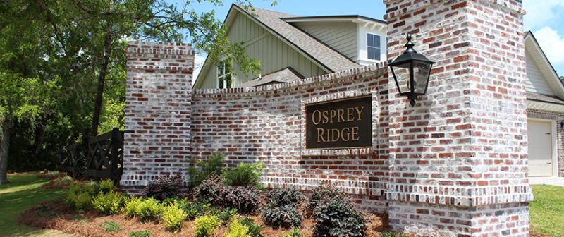 Osprey Ridge entrance