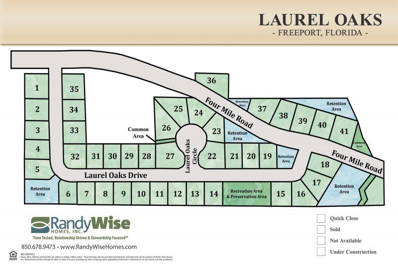 Laurel Oaks plots map