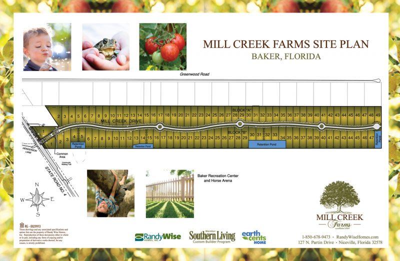Mill Creek Farms Colored Neighborhood Site Plan.