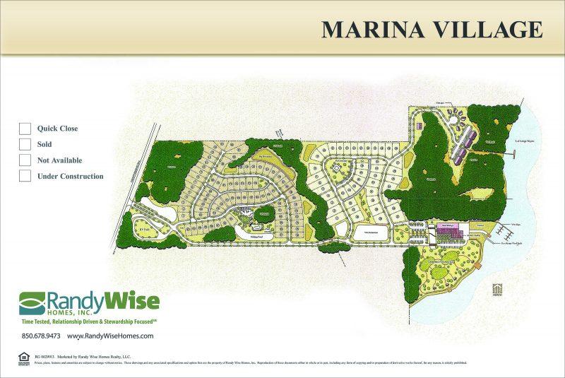 Colored Neighborhood Site Plan for Marina Village