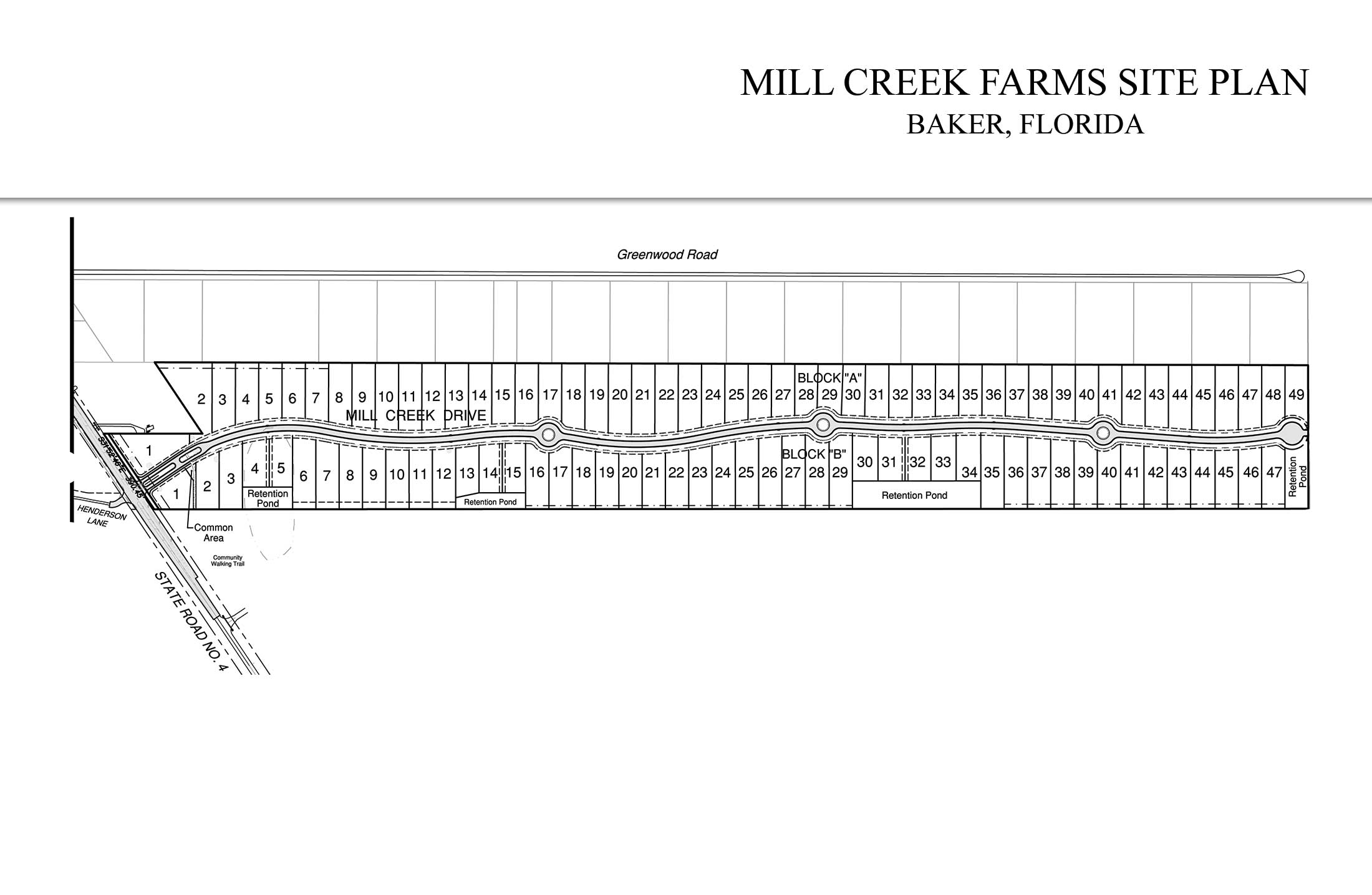 Mill Creek Farms Neighborhood Site Plan.