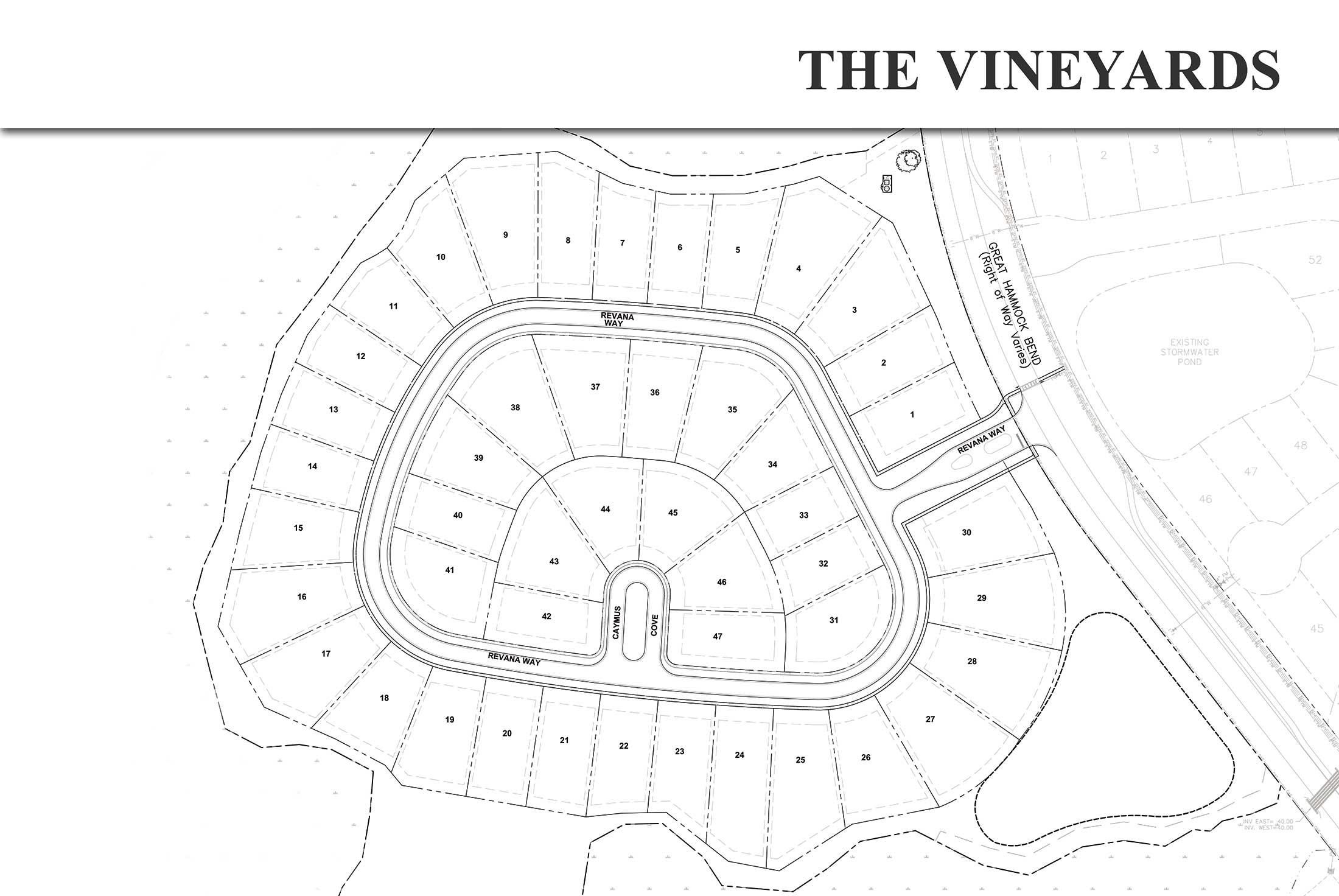 Vineyards at Hammock Bay Neighborhood Site Plan