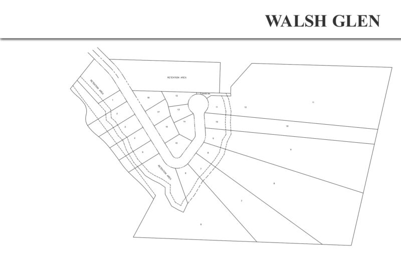 Walsh Glen Estates Site Plan