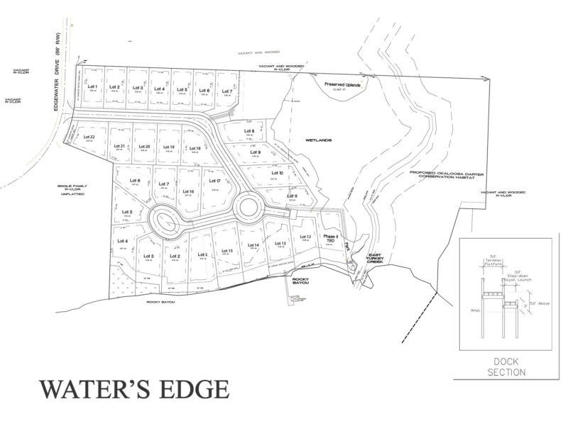 Water's Edge Neighborhood Site Plan