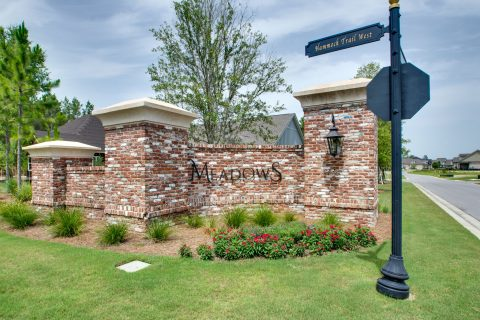 Brick Meadows entrance at Hammock Bay