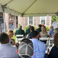 Randy Wise addressing the crown at the 2019 Community Spirit Home Event