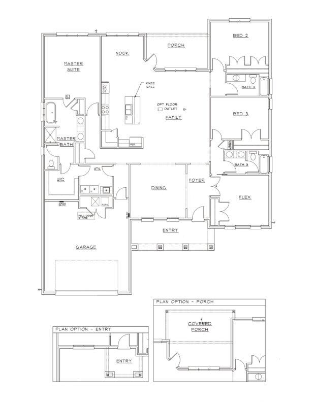 New Homes in Freeport, Florida. Live Oak III Floorplan in Meadows at Hammock Bay.