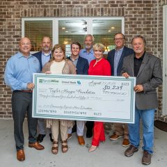 Randy Wise, Brian and Kathy Haugen and company presenting a large check in the sum of $50,534 for the 2019 Community Spirit Home event