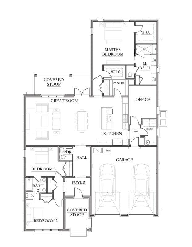 New Homes in Niceville, Florida. Addie Floorplan in Fate's Landing.