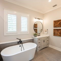 Addie Floorplan - Master Bathroom with Soaking Tub and Dual Vanities