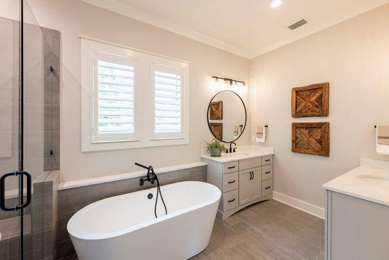 Addie Floorplan - Master Bathroom with Soaking Tub and Dual Vanities