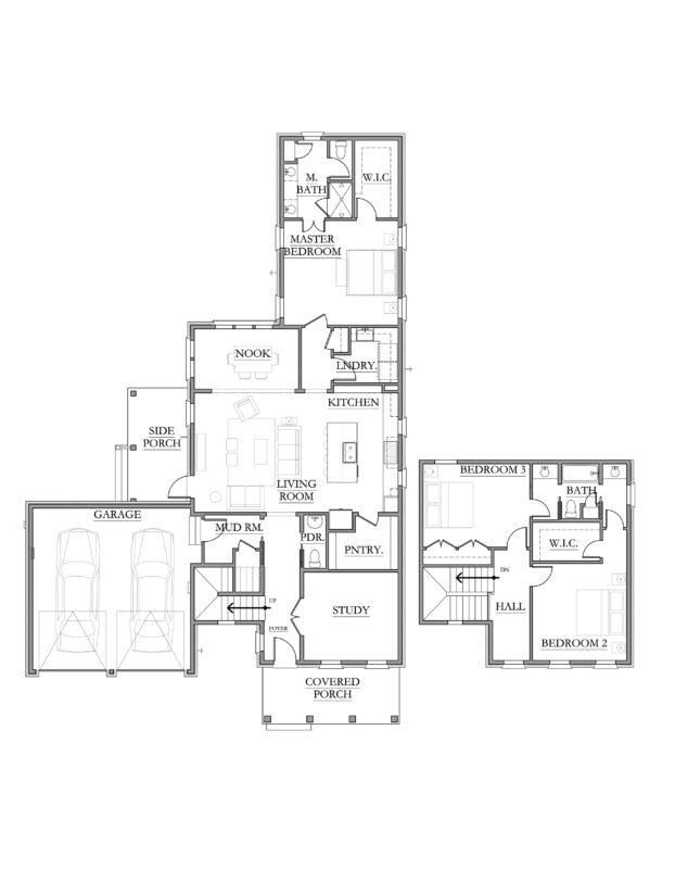 New Homes in Niceville, Florida. Stella Floorplan in Fate's Landing.