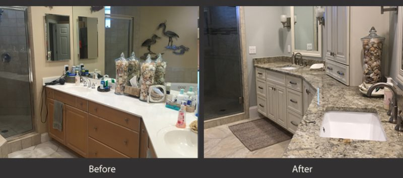 Bathrooms before and after 1