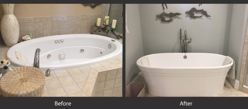 Bathrooms before and after 3