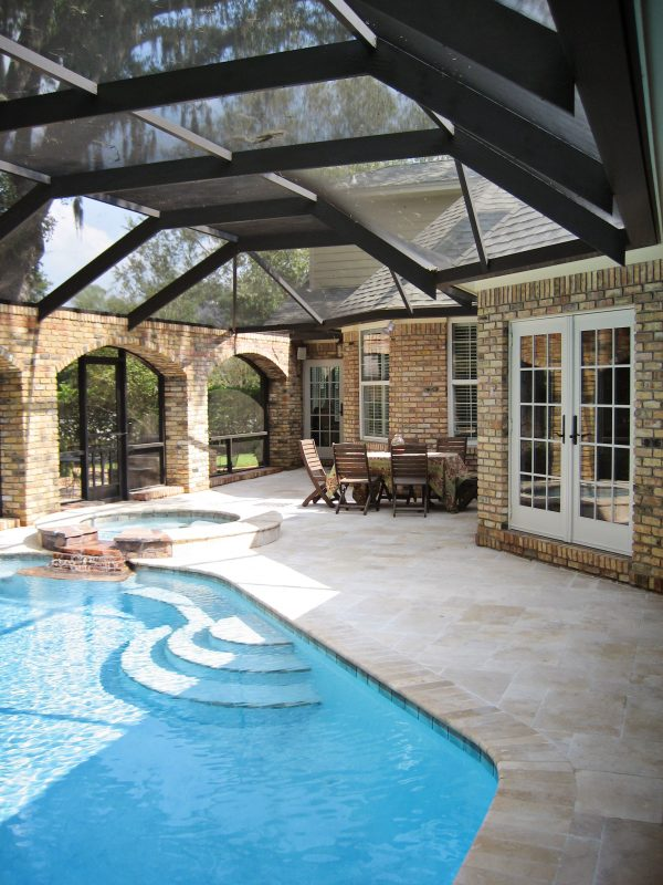 Pool Enclosure Addition in Bluewater Bay 4