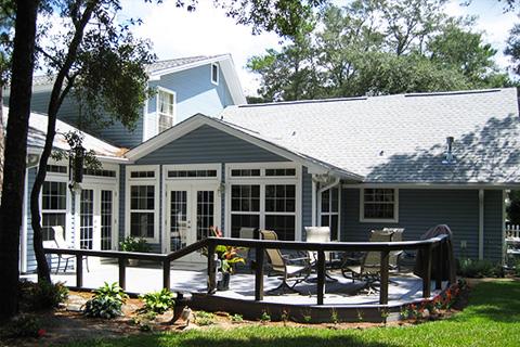 Home exterior patio