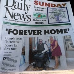 Newspaper article covering the Deslauriers Welcome Home Celebration