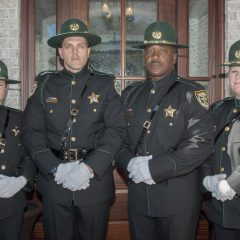 Local law enforcement posing for a photo