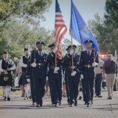 Color Guard at the Deslauriers Welcome Home Celebration