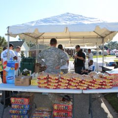 SSG Aaron Hale Welcome Home Celebration snack tent