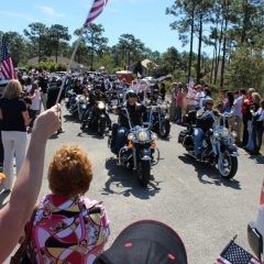 Motorcycle club parading for SSG Aaron Hale