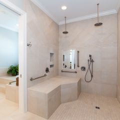 Deslauriers home handicap-accessible shower