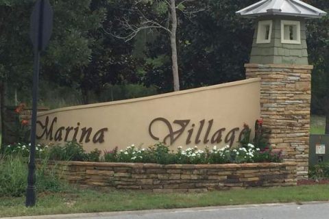 Marina Village entry sign