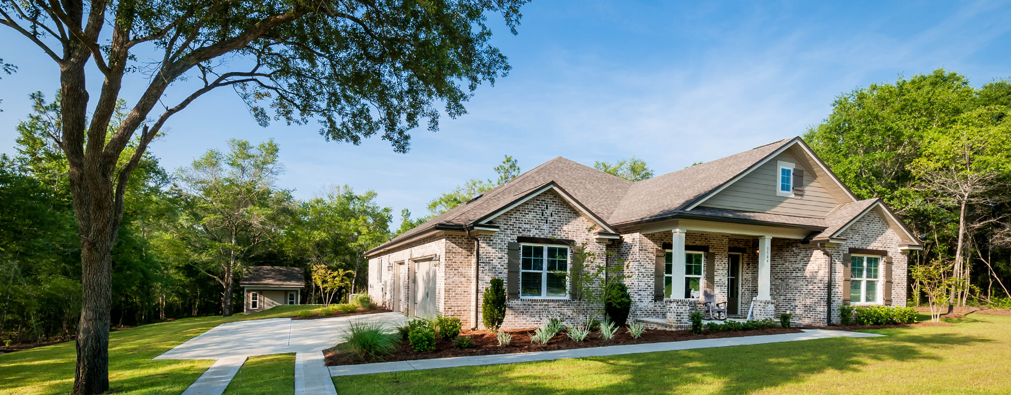 Mill Creek Farms model home front exterior