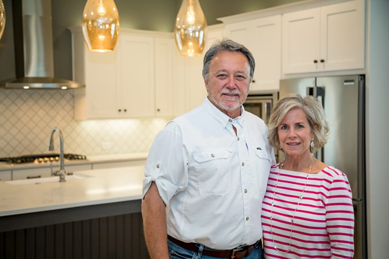 Randy and Debbie Wise standing in kitchen