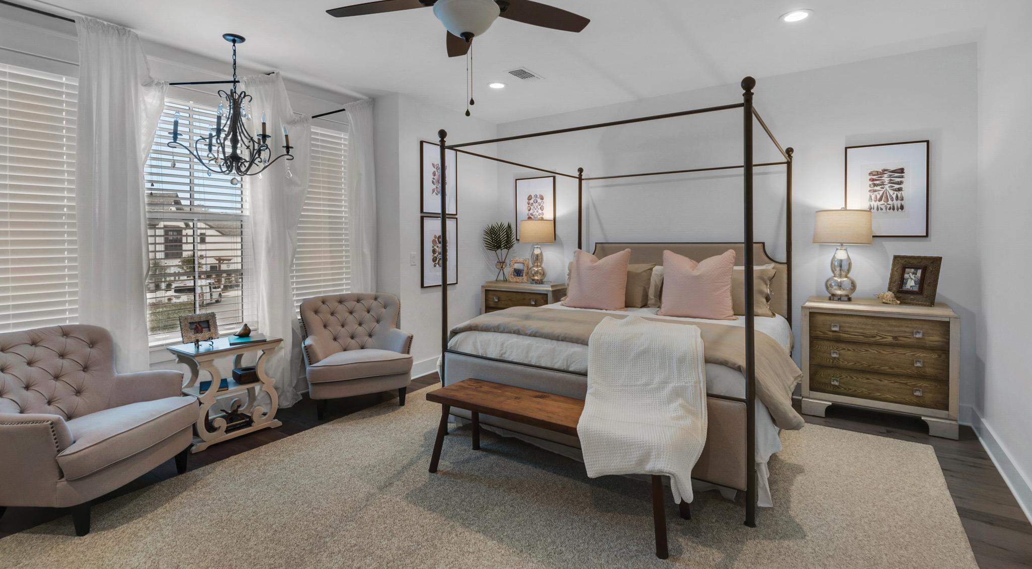 Spacious master bedroom in Ridgewalk home