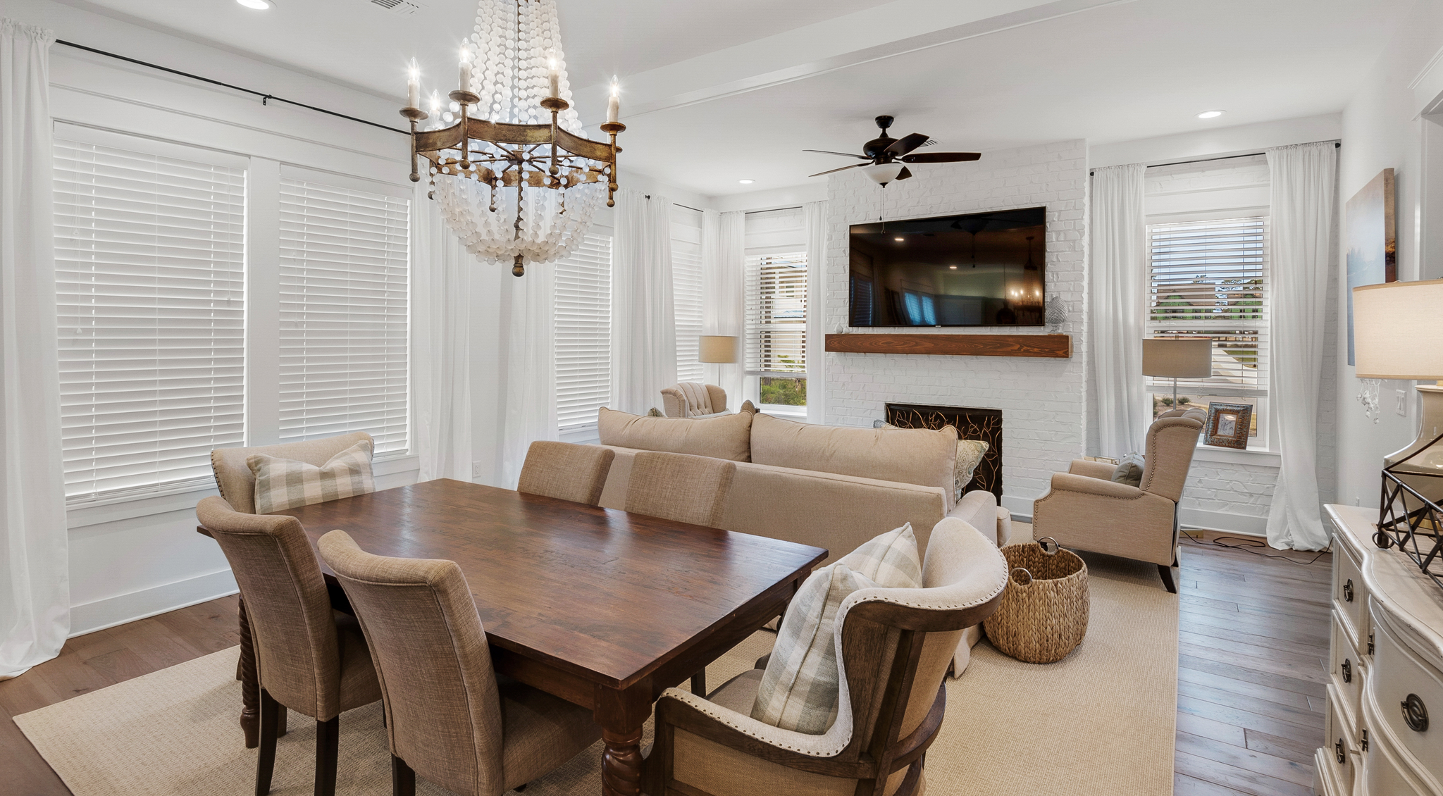 Living Room and dining area in Ridgewalk home
