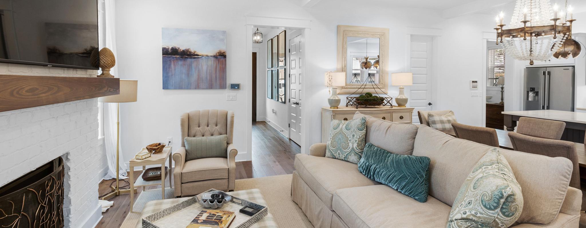 Open living area in RidgeWalk home