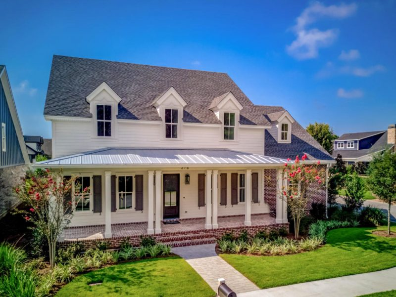 Custom Home exterior during daytime in Kelly Plantation