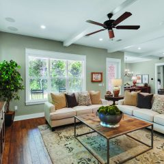 Water's Edge home open living area interior in Niceville