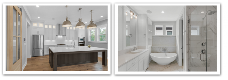 Parade of Homes 2019 Kitchen and bathroom