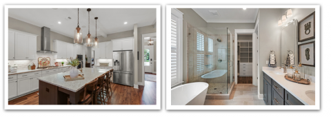 2018 Parade of Homes Winners - 4404 Colleen Cove kitchen and bathroom