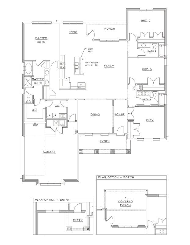 New Homes in Baker, Florida. Live Oak II Floorplan in Mill Creek Farms.