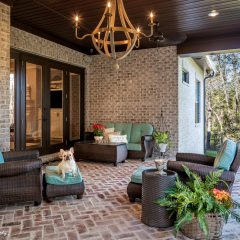 Outdoor Brick Living Space