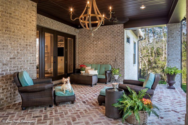 Outdoor Brick Living Space