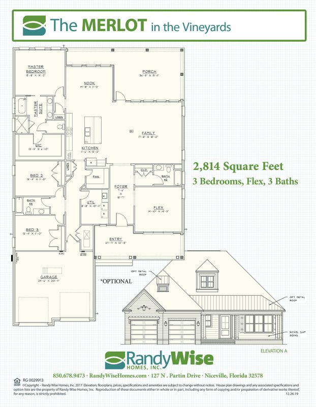Merlot Floorplan in Vineyards at Hammock Bay