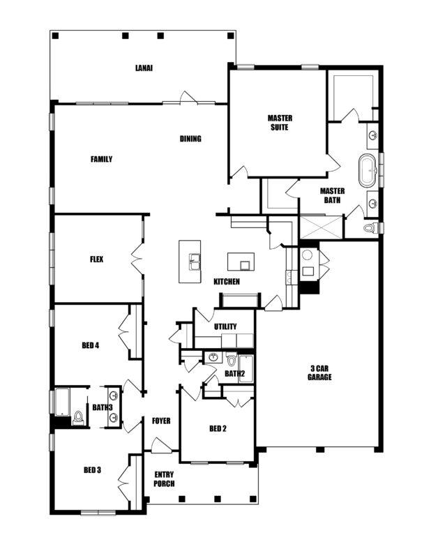 New Homes in Freeport, Florida. The Riesling Floorplan in Vineyards at Hammock Bay